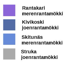 Varauskalenterin värikoodit