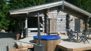 Kivikosken palju saunan terassilla
