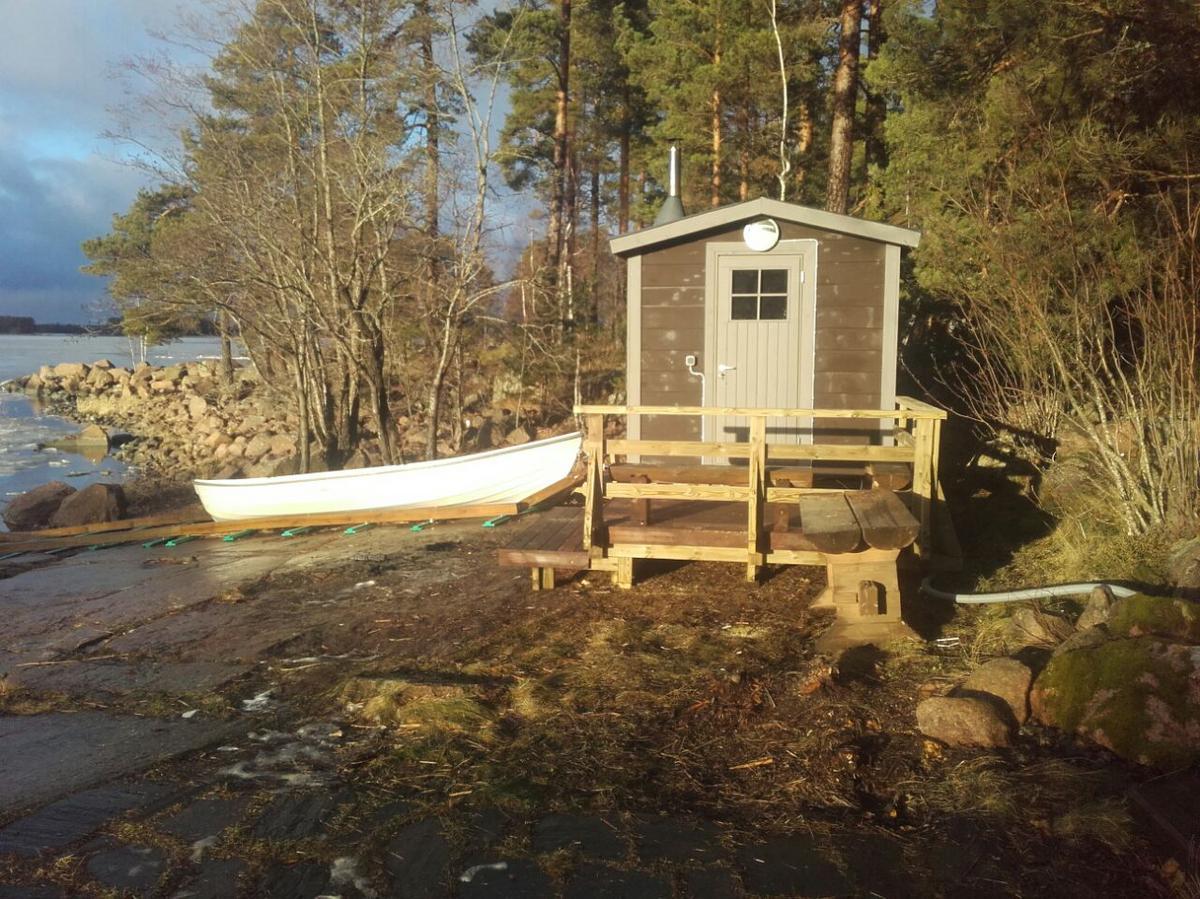 Vuokramökillä iso sauna