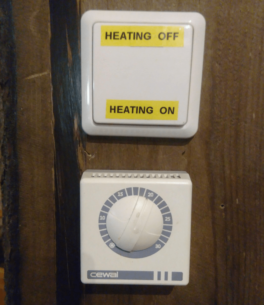 Lämmönsäätö, heating on/heating off