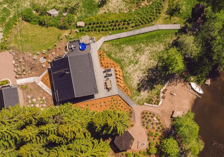 Ilmakuva Kivikosken vuokramökiltä