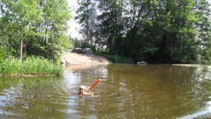 Kivikosken mökillä uimakelpoinen ranta